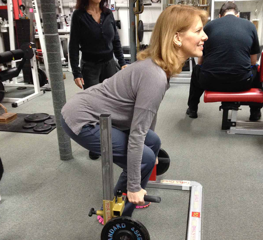 Women's strength training and senior fitness at Boos World