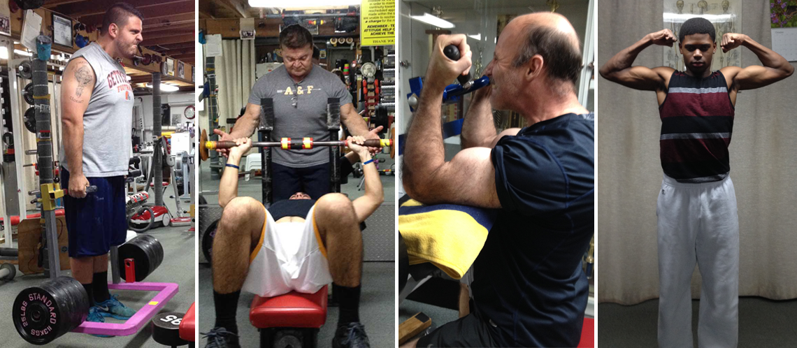 Men's strength training at Boos World with John Boos