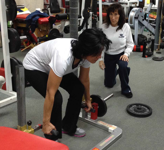 weight lifting and strength training at Boos World